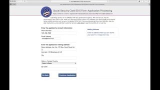 Social Security Card Replacement Form, Apply Online @ Application-Filing-Service.com