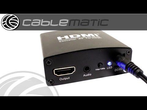 Conversor De Audio Y Vídeo Compuesto CBVS A HDMI Mini Distribuido Por CABLEMATIC ®
