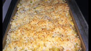 Zesty Cheesy Tuna Noodle Casserole