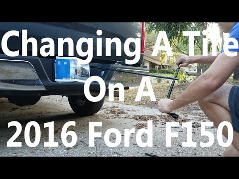 How To Change a Tire 2016 Ford F150