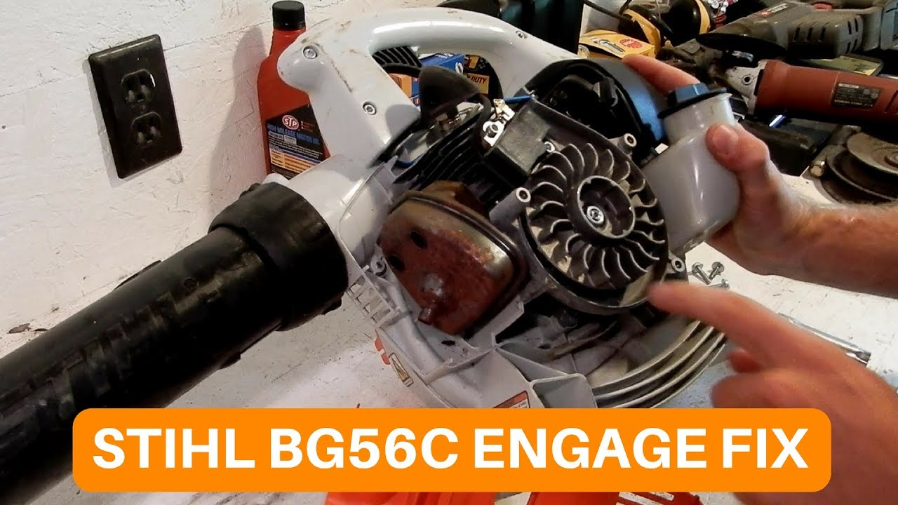 STIHL BG56C ENGAGE SPRING FIX!