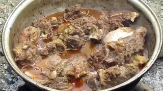 Odun ateşinde  kemikli et Nohut yemeği tarifi ve öğlen yemeği günlük vlog