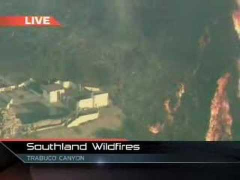 Flames Threaten Homes in Trabuco Canyon, CA - Oct. 24