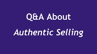 Authentic Selling (Interviewed by Bridget Marsh)