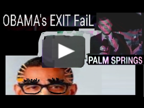 OBAMA's EXIT FaiL - Before Hawaii, he got stranded over CA in a storm.