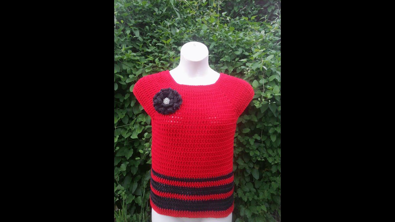 f34436ecd86b CROCHET How to  Crochet Womens L XL Top Blouse Shirt  TUTORIAL  249  supersaver DYI