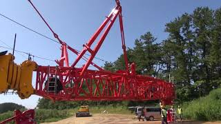 LTM11200NX ㈱ヤマガタ メインフックへのワイヤリング作業