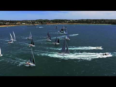 2017 Melbourne to Hobart Westcoaster and Melbourne to Devonport ocean yacht race start
