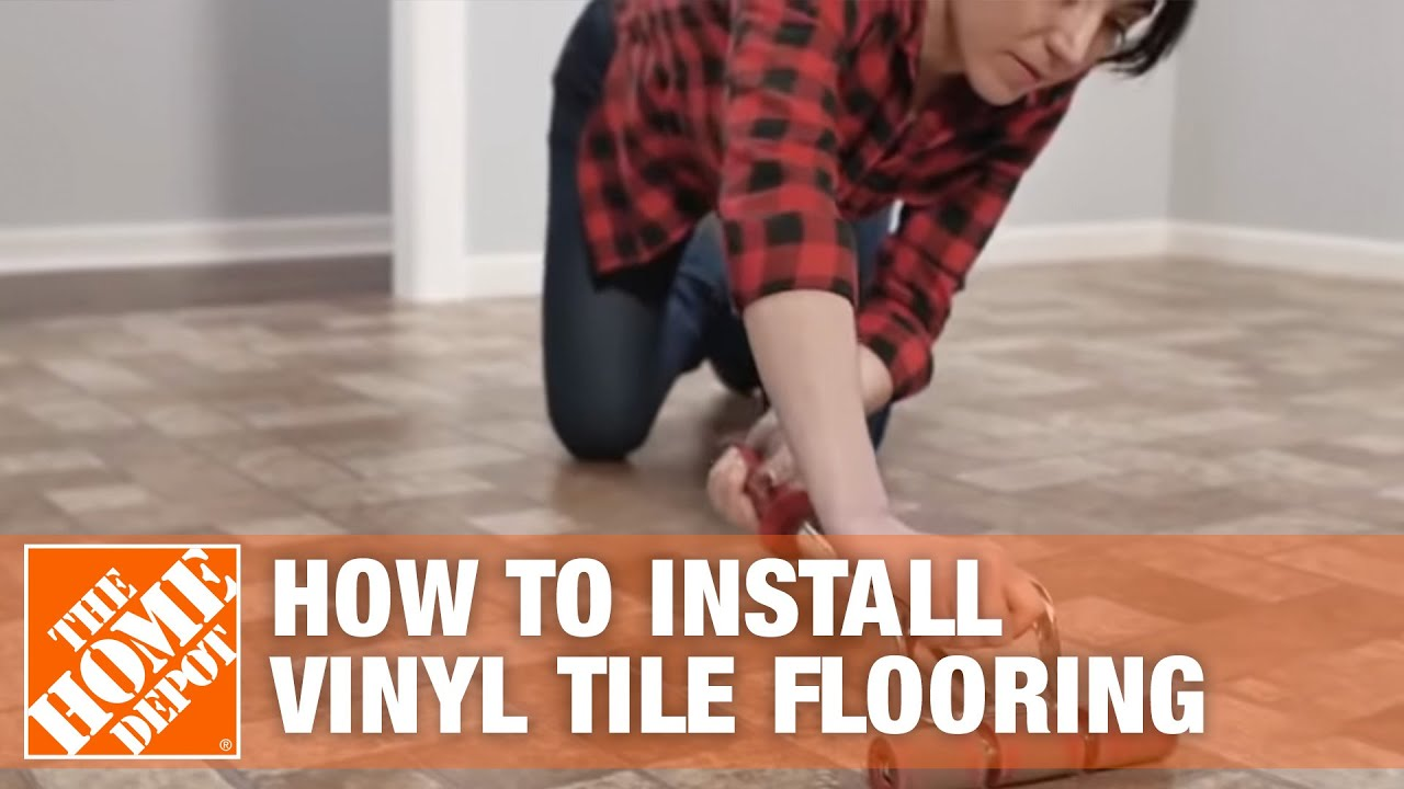 how to install peel and stick vinyl tile flooring the home depot