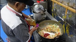 77 Year Old Indian Restaurant Chef making Indo-Chinese: Manchurian, Noodles & Mushroom at RK Dining.