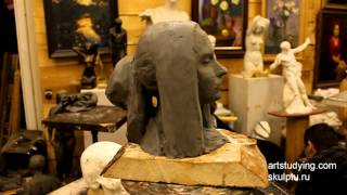 Пример лепки портрета - Обучение скульптуре. Портрет, 20 серия