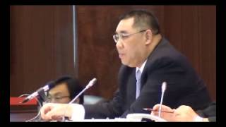 2012 11 14 行政長官答問 高天賜 特首怎樣看澳門特區現時形象