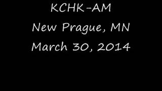 KCHK AM New Prague, MN March 30, 2014