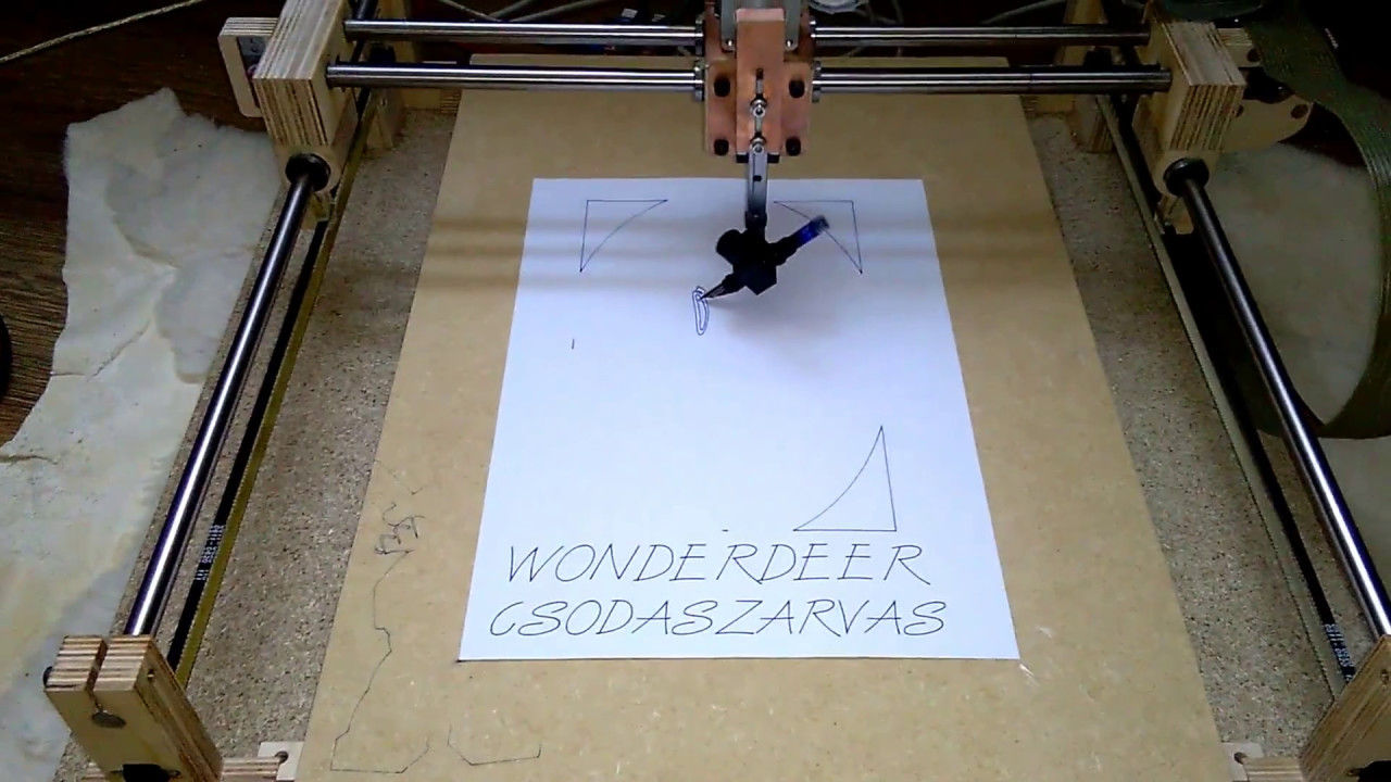 Homemade pen plotter Csodaszarvas Wonderdeer #1