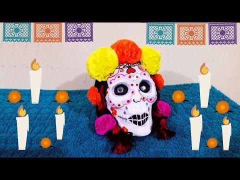 Calavera Catrina decorada para el día de muertos  | DIY| Manualidades para decorar el día de muertos
