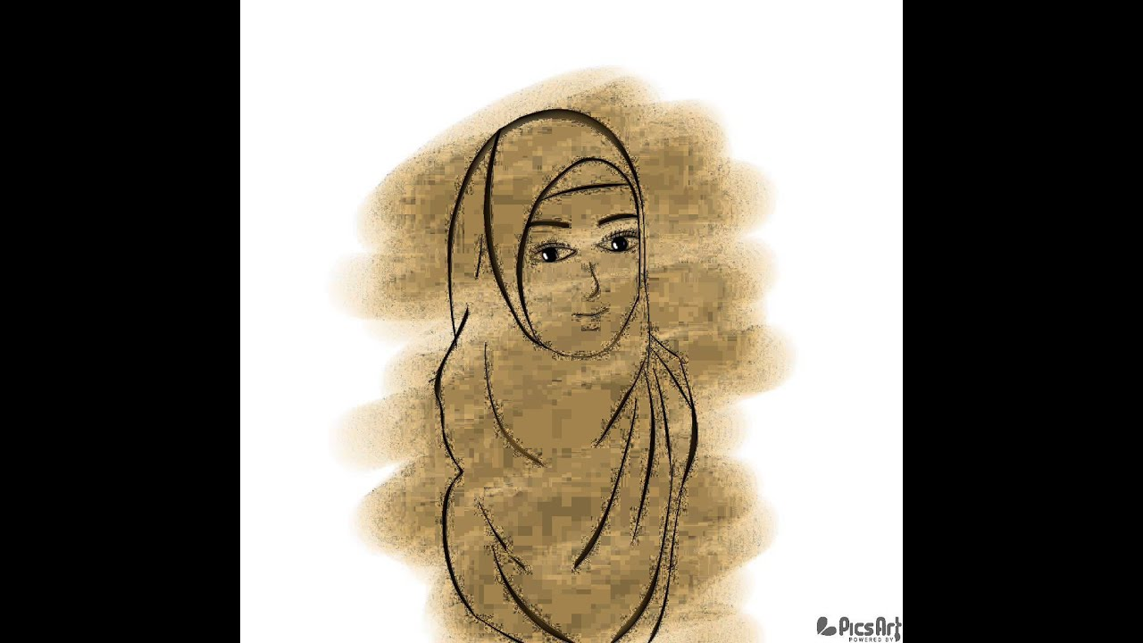 Sketsa Kartun Muslimah With Picsart By Erl YouTube
