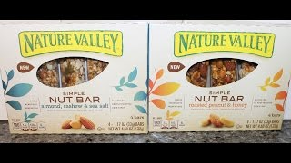 Nature Valley Simple Nut Bar: Almond, Cashew, Sea Salt & Roasted Peanut & Honey Review