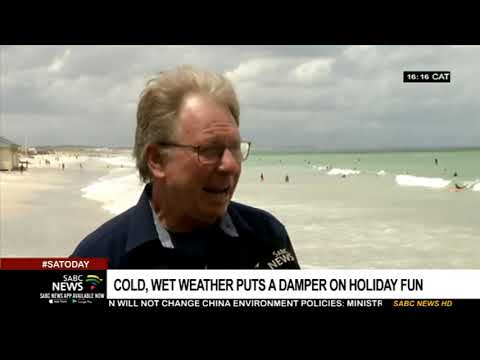 Cold, Wet Weather Dampens Holiday Fun In Cape Town Beaches