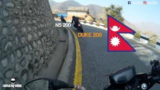 APACHE 200 vs. KTM DUKE 200 vs. NS 200 (RAW FOOTAGE) | FRIENDLY RACE | NEPAL | MOTOVLOG #20