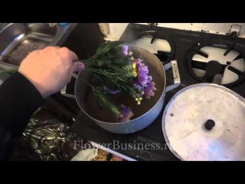 Парим искусственные цветы в кастрюле