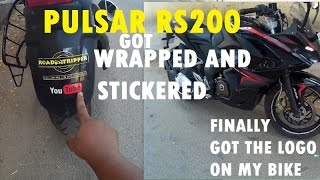 Pulsar RS200 protect from scratches,tank wrap,rim stickers,logo sticker on bike and helmet thumbnail