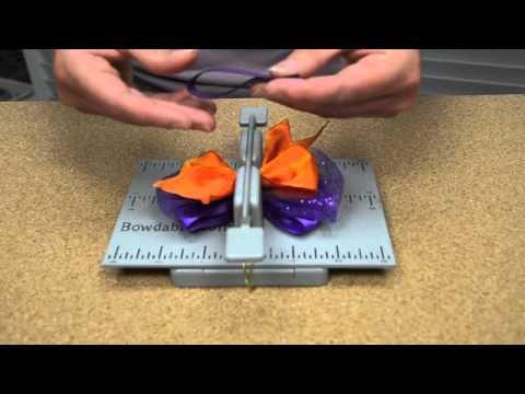 hair bow making tutorial autumn