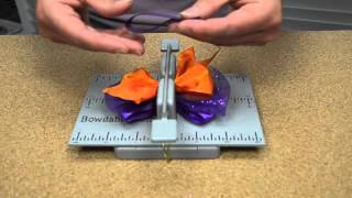 Hair Bow Making Tutorial for Autumn Using Bowdabra Bow Making Products
