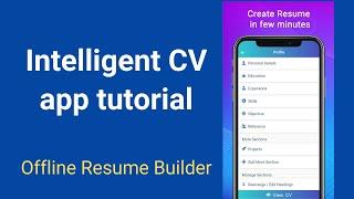 Resume Builder 2021 Free CV maker App Freshers PDF | Intelligent CV screenshot 1
