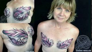 Wow Top 10 List | 10 Incredible Tattoos To Cover Breast Cancer Scars Into Amazing Art 2016