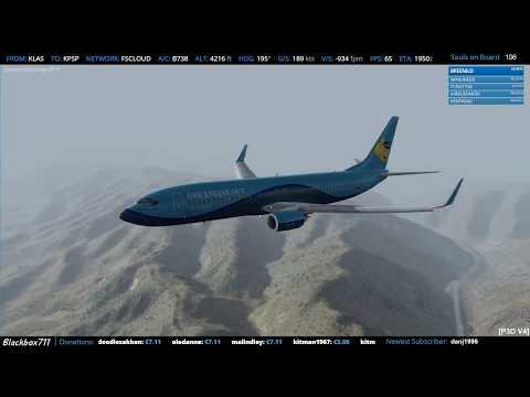 [P3D V4] PMDG 737 RNAV Z 13R in Palm Springs/KPSP