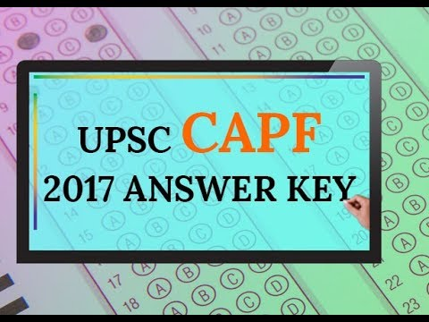 UPSC CAPF ASSISTANT COMMANDANT 2017 SOLVED PAPER
