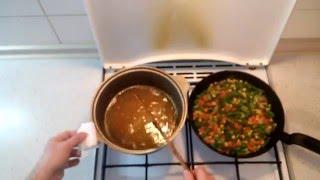 Рис с овощамы. Как приготовить замороженные овощы с рисом.