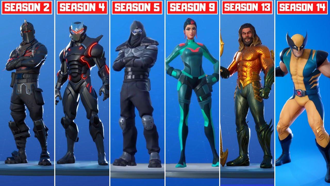 The Evolution of All Mystery Fortnite Skins! (Season 4 - Season 14)