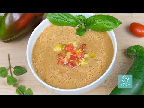 Raw Food Recipes: Tomato Basil Soup with Chef Adam Graham - Raw Vegan Chef