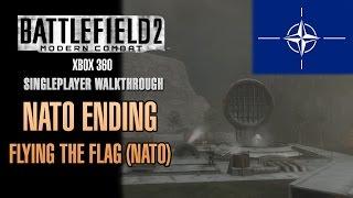 Battlefield 2: Modern Combat Walkthrough (Xbox 360) - NATO Ending - Flying The Flag