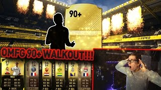 FIFA 17: OMFG 90+ BEAST WALKOUT! 🔥😱 (DEUTSCH) - ULTIMATE TEAM - BEST PACK OPENING!