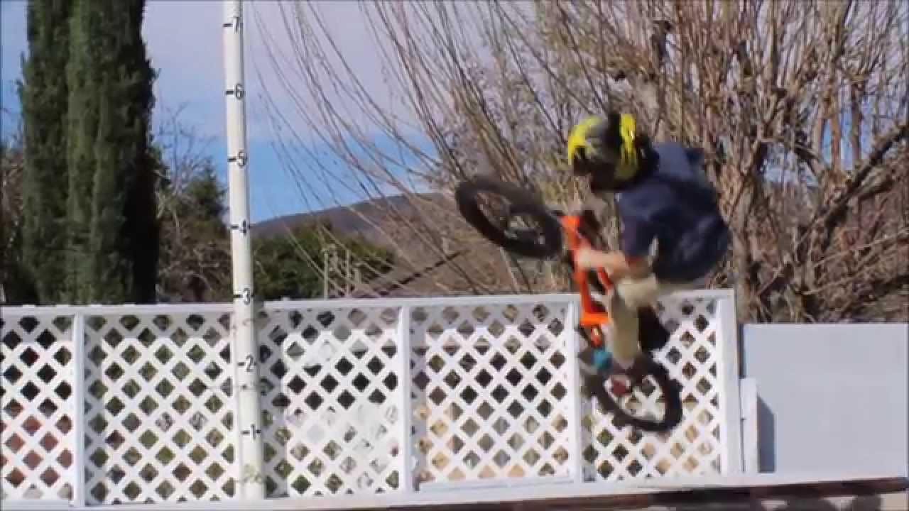 12 year old bmx er braeden davis on his backyard halfpipe youtube