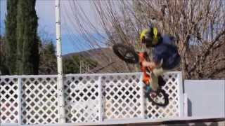 12 Year Old Bmx Er Braeden Davis On His Backyard Halfpipe