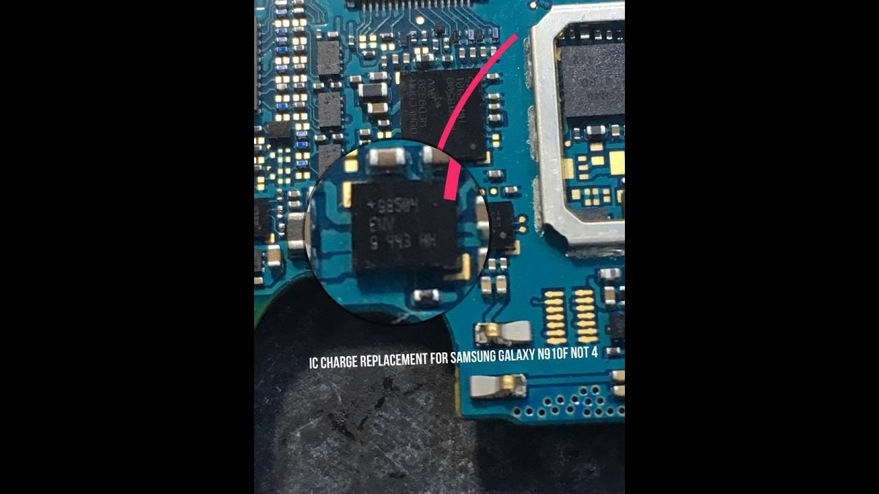 Samsung Galaxy N910f Note 4 Not Charging Solution Ic