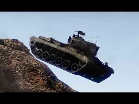 War Thunder Tiger Patton out Plays T-10M Flying Tank Maneuver