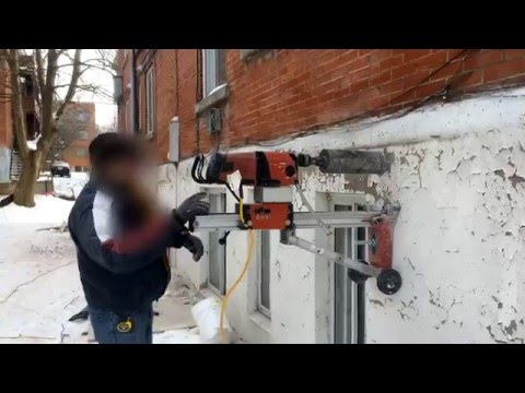 How to create a hole in The Buildings Foundation -25 degrees cold