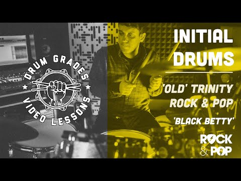 ★ Black Betty ★ Trinity Rock & Pop (Drums) INITIAL SYLLABUS   Full Video Song Lesson (Lead Belly)
