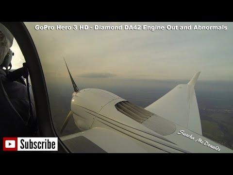 GoPro Hero 3 HD - Diamond DA42 Engine Out & Abnormals