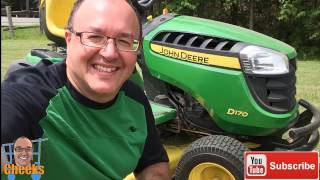 John Deere D170 Lawn Tractor - Wild Ride and Review on a Lawn Tractor