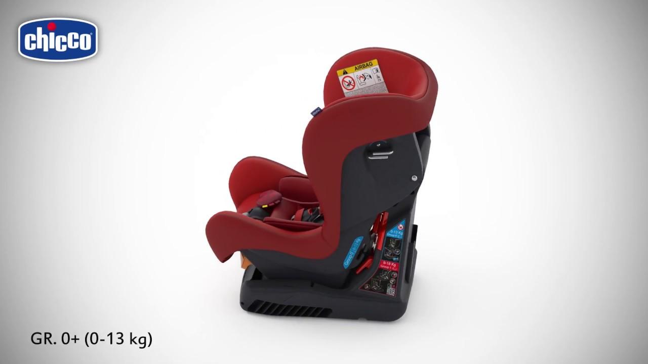 instalacion auto silla chicco cosmo