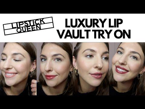 LIPSTICK QUEEN TRY ON: Luxury Lip Vault Collection