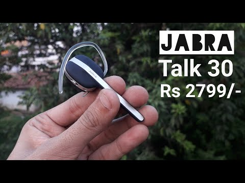 Jabra Talk 30 Bluetooth Headset Unboxing and Review in hindi