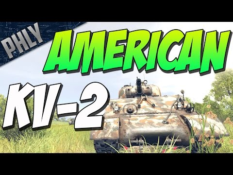 SHERMAN 105MM - The American KV-2 (War Thunder Tanks Gameplay)