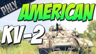 sherman 105mm the american kv 2 war thunder tanks gameplay