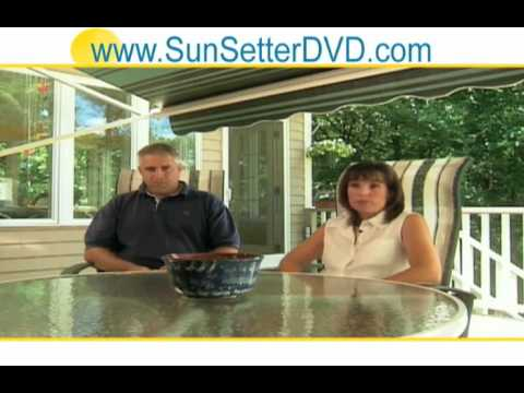 CA Sunsetter EasyShade Screen Room - Retractable Awning ...